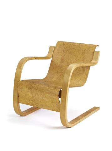 Alvar Aalto for Finmar 31 Armchair designed 1932  bent laminated karelian birch moulded plywood  Height: 67.5 cm. 26 9/16 in.