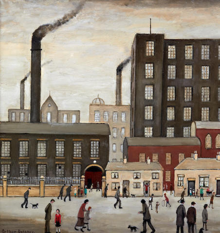 Arthur Delaney (British, 1927-1987) Northern mill town