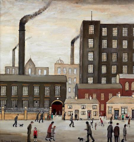 Arthur Delaney (British, 1927-1987) Northern mill town