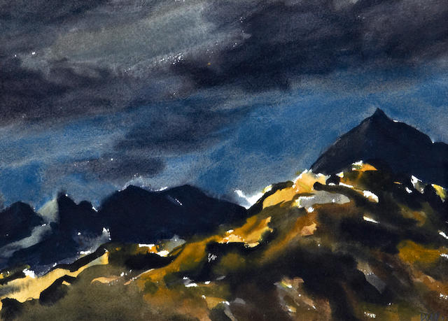 Sir Kyffin Williams R.A. (British, 1918-2006) 'Crib Goch'