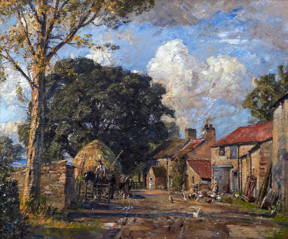 Herbert F. Royle (British, 1870-1958) 'Manor Farm', Nessfield near Ilkley