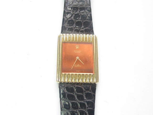 A gentleman's 'Cellini' wristwatch, by Rolex, 1970s