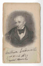MANUSCRIPTS - WORDSWORTH. Autograph presentation signature and subscription, 1849