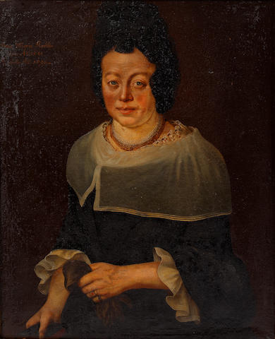 Provincial Dutch School Portrait of Anna Maria Flerblin