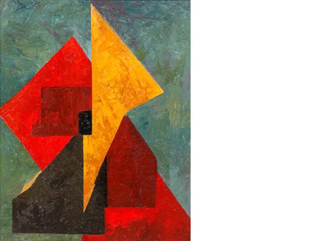 James Stroudley (British, 1906-1988) Abstract, Red, Yellow and Green