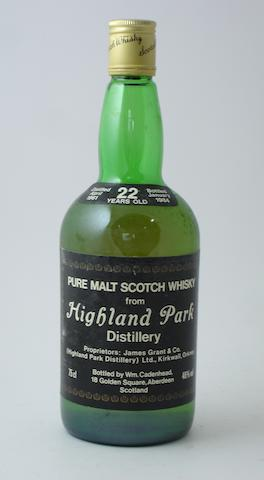 Highland Park-22 year old-1961