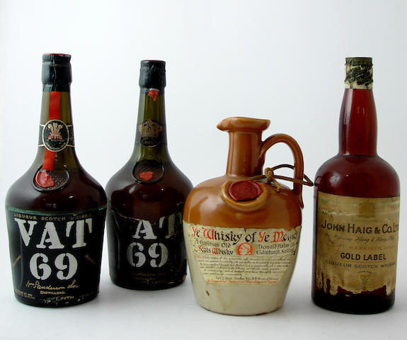 VAT 69 (2) <BR /> Ye Whisky of Ye Monks<BR /> Haig Gold Label-Circa-1940