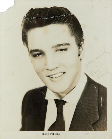 Elvis Presley: an autographed photograph, 1950s,