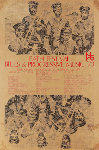 Led Zeppelin: A poster for the 'Bath Festival Of Blues & Progressive Music '70',