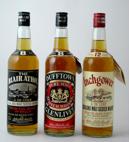 Blair Athol-8 year old<BR /> Dufftown-Glenlivet-8 year old<BR /> Inchgower-12 year old