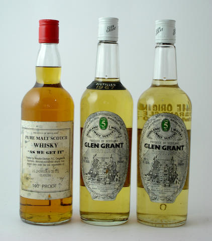 Macallan-Glenlivet As We Get It<BR /> Glen Grant-5 year old-1967<BR /> Glen Grant-5 year old