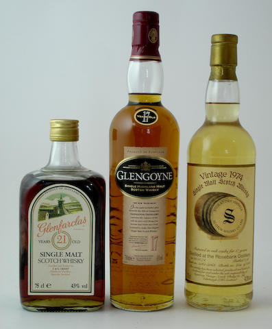 Glenfarclas-21 year old<BR /> Glengoyne-17 year old<BR /> Rosebank-17 year old-1974