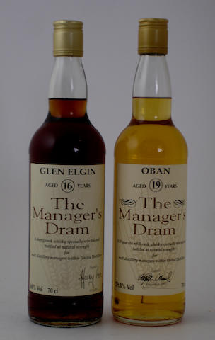 Glen Elgin-16 year old<BR /> Oban-19 year old
