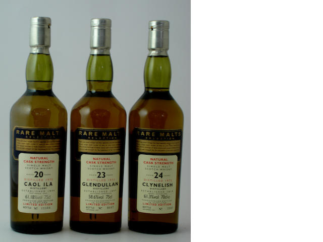 Caol Ila-20 year old-1975<BR /> Glendullan-23 year old-1973<BR /> Clynelish-24 year old-1972