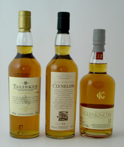 Talisker-18 year old<BR /> Clynelish-14 year old<BR /> Glenkinchie-12 year old (2)