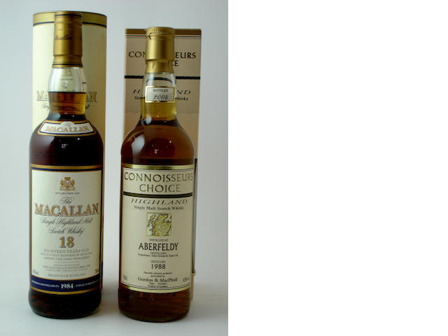 The Macallan-18 year old-1984<BR /> Aberfeldy-1988