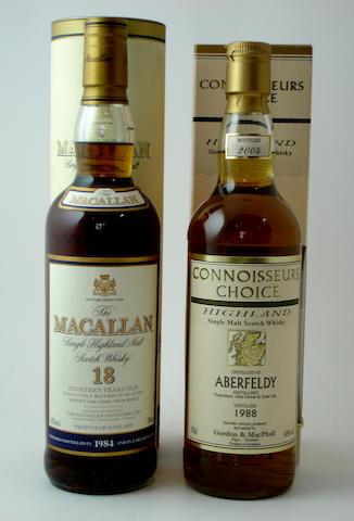The Macallan-18 year old-1984<BR /> Aberfeldy-1988