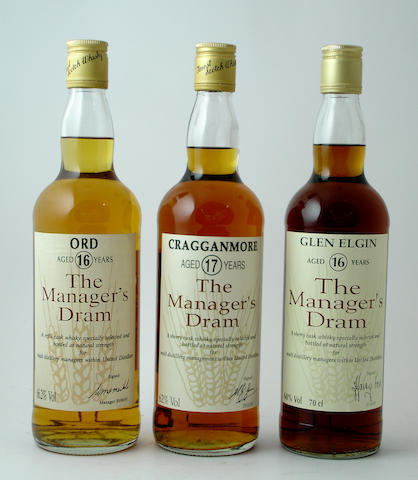 Ord-16 year old<BR /> Cragganmore-17 year old<BR /> Glen Elgin-16 year old