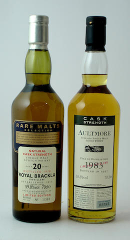 Royal Brackla-20 year old-1978<BR /> Aultmore-1983