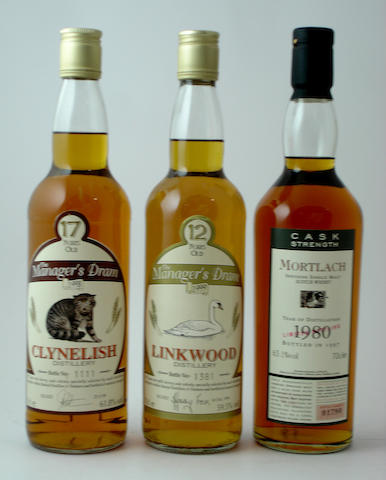 Clynelish-17 year old<BR /> Linkwood-12 year old<BR /> Mortlach-1980