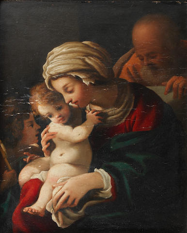 Bartolomeo Schedoni (Modena 1578-1615 Parma) The Holy Family with the Infant Saint John the Baptist