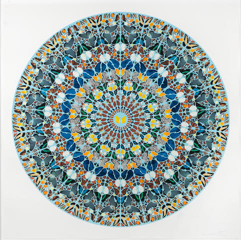 Damien Hirst (British, born 1965) Mantra print Mantra Screenprint with Diamond Dust, 2011, 1524 x 1512mm (60 x 59.5in)(SH) numbered 10/50   DHP 15218