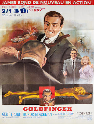 Goldfinger french grande poster