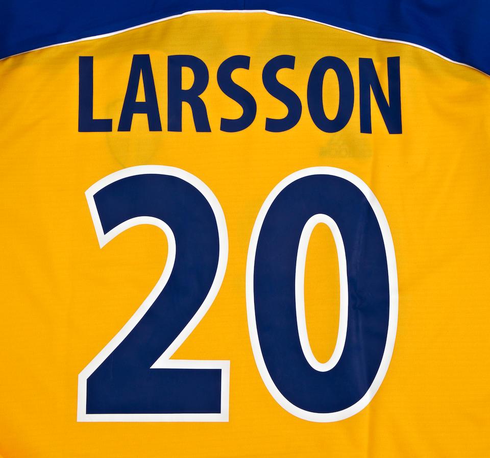 Euro 2000 Henrik Larsson match worn Sweden shirt