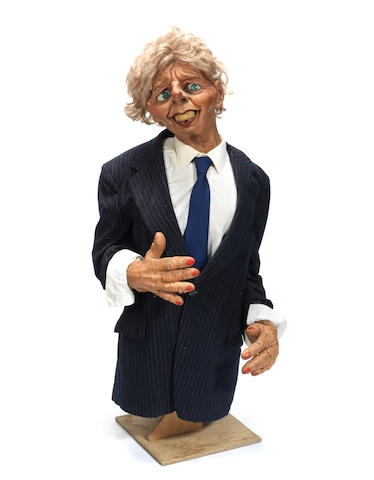 Spitting Image: a Margaret Thatcher puppet,
