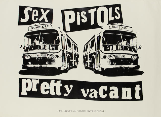 The Sex Pistols: A promo poster for the single 'Pretty Vacant', 1977,