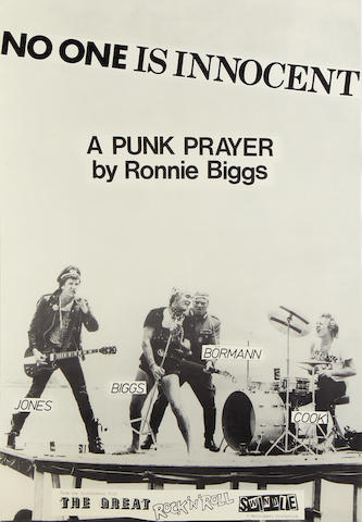 Sex Pistols: four promo posters, 'The Great Rock 'n' Roll Swindle', 1978,