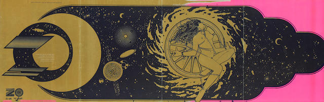 Oz: a poster, 'Catherine And The Wheel Of Fire/a space poem revealed',