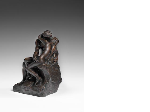 Auguste Rodin (French, 1840-1917) Le baiser, 4ème réduction ou petit modèle