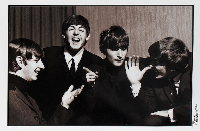 Trevor Clark (British, b.1933): A large photographic portrait of the Beatles, 'Fooling Around',