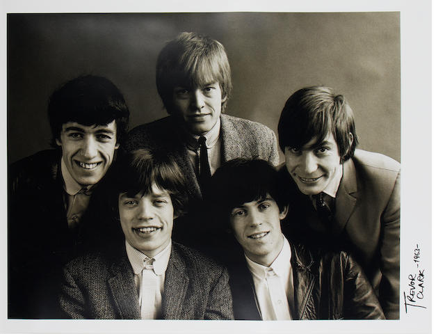 Trevor Clark (British, b.1933): A large photographic portrait of the Rolling Stones,