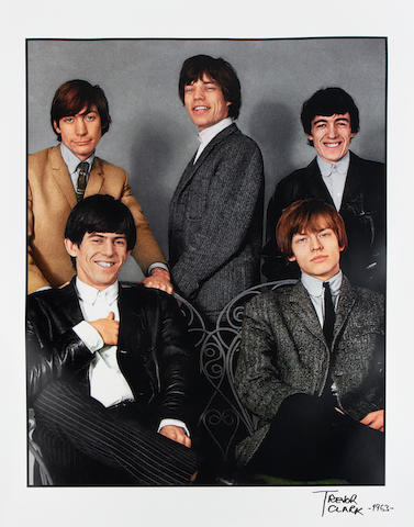 Trevor Clark (British, b.1933): A large colour photographic portrait of The Rolling Stones,