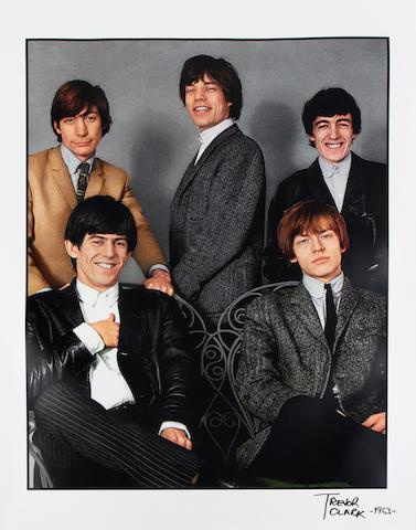 Trevor Clark (British, b.1933): A large colour photographic portrait of the Rolling Stones,