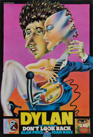 Bob Dylan: Don't Look Back poster, 1967,