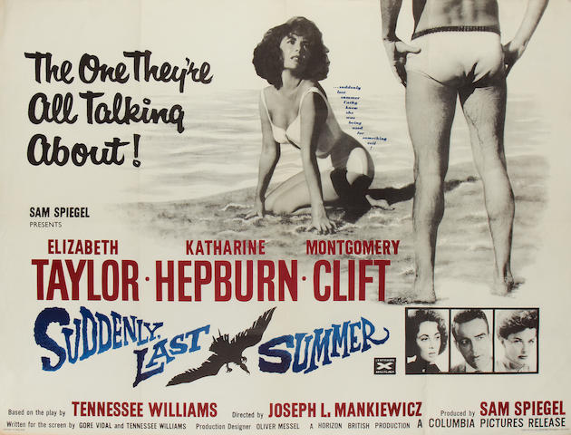 Elizabeth Taylor: Three British quad posters, 1959-1963, including: 3