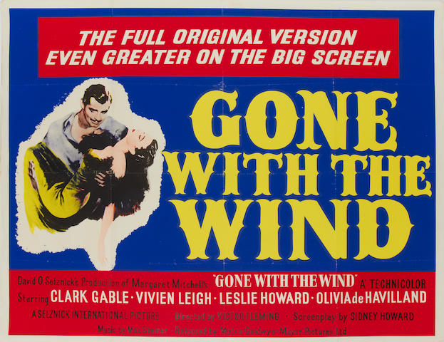Gone With The Wind, M.G.M., 1939