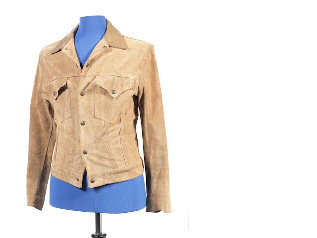 Bob Dylan & John Lennon: a tan suede jacket, 1960s,