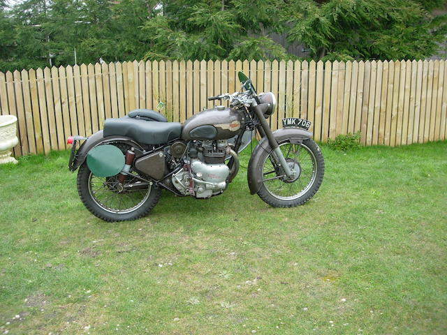 The ex-Brian Nash, 1955 ISDT 1953 Royal Enfield 700cc Meteor Trials Combination, Frame no. 389 (see text) Engine no. 389