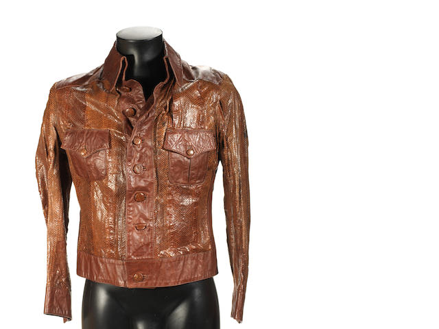 John Entwistle/The Who: a custom-made leather jacket, early 70s,
