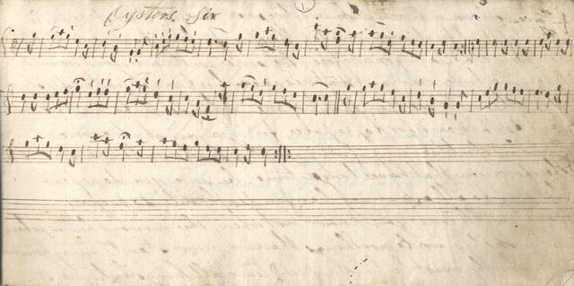 MUSIC - MANUSCRIPTS. Collection of manuscript musical scores, c.1810-1830