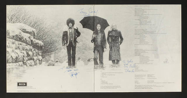 Thin Lizzie: A signed album Shades of Blue Orphanage, Decca, 1972,