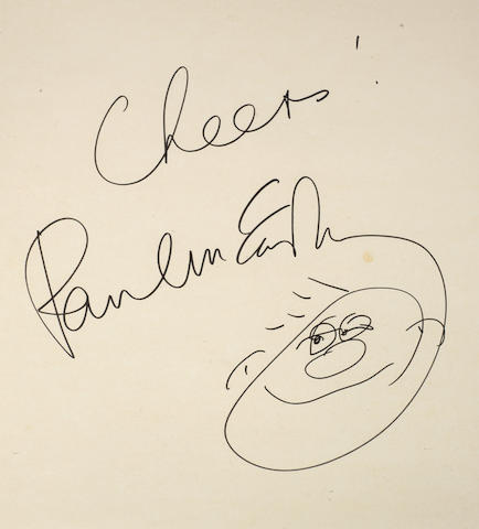 Paul McCartney: An oversized signature and sketch,