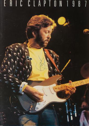 Eric Clapton and Mark Knopfler: An autographed souvenir programme,  1987, 2