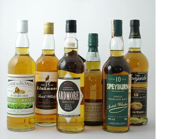 Glenlivet-15 year old<BR /> Linkwood-15 year old<BR /> Ardmore-1981<BR /> Glen Elgin<BR /> Speyburn-10 year old<BR /> Speyside-12 year old