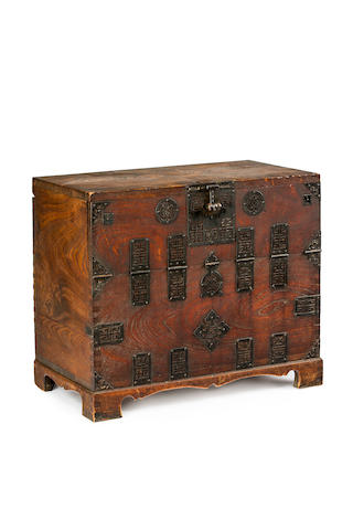 A Japanese elmwood tansu early Meiji period