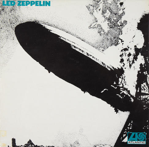 Led Zeppelin: A first pressing of the band's eponymous debut album, 1969,